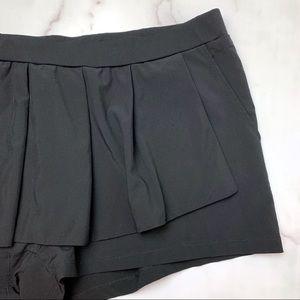 Fabletics Shorts - FABLETICS Cognac Skirt - Skort in Black Size XXL